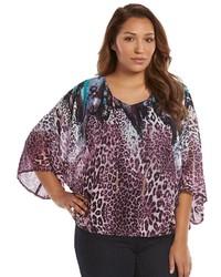 Purple Leopard Kimono