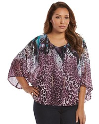 Jlo by jennifer lopez plus size jennifer lopez printed kimono top medium 322408