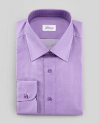 Brioni Barrel Cuff Dress Shirt Bright Purple