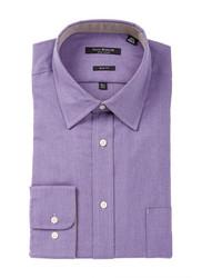 Isaac Mizrahi Black Label Solid Long Sleeve Button Front Dress Shirt