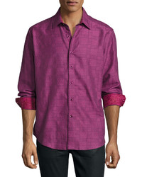Robert Graham Captain Long Sleeve Sport Shirt Raspberry