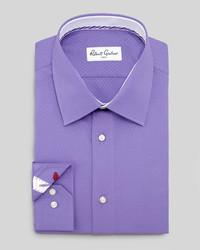 Robert Graham Clark Diamond Jacquard Dress Shirt Purple