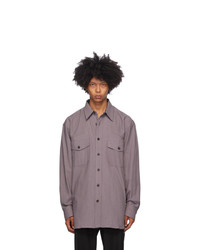 Dries Van Noten Purple Cotton Shirt