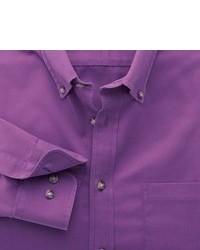 Charles Tyrwhitt Purple Non Iron Twill Classic Fit Shirt