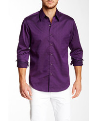 Robert Graham Whitehorse Textured Long Sleeve Tailored Fit Shirt