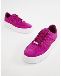 Nike Berry Air Force 1 Sage Trainers