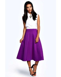 How to Wear a Purple Midi Skirt (2 looks) | Women's Fashion