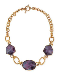 Stephen Dweck Galactic Rock Crystal Necklace Purple