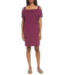 Eileen Fisher Off The Shoulder Shift Dress
