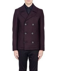 Lanvin Double Faced Peacoat Red