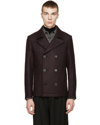 Lanvin Plum Double Breasted Peacoat