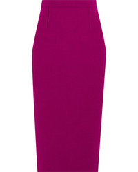 Roland Mouret Arreton Wool Crepe Pencil Skirt Purple