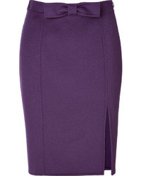 Moschino Cheap & Chic Moschino Cheap And Chic Wool Skirt With Bow