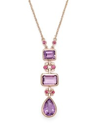 Bloomingdale's Amethyst And Rhodolite Pendant Necklace In 14k Rose Gold 17