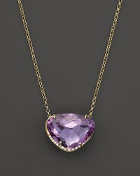 Vianna Brasil 18k Yellow Gold Necklace With Amethyst And Diamond Accents 165