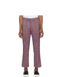 Purple Plaid Chinos