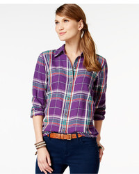 American Living Plaid Button Front Shirt Only At Macys