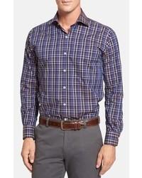 Purple Plaid Long Sleeve Shirt