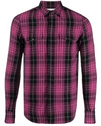 Saint Laurent Checked Long Sleeve Shirt