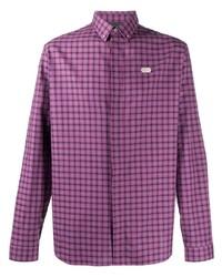Philipp Plein Long Sleeve Hexagon Plaque Shirt