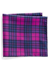 Collection plaid polka dot silk pocket square medium 8604