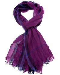 Purple Plaid Scarf