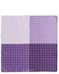 Purple Polka Dot Pocket Square