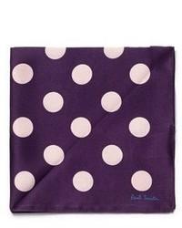 Polka dot print silk pocket square medium 464896