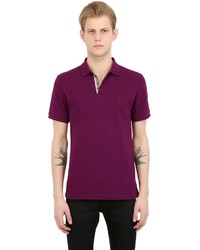 Burberry Logo Embroidered Cotton Piqu Polo