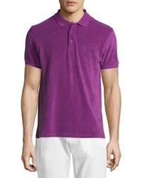 Vilebrequin Terry Short Sleeve Polo Shirt Purple