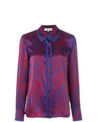 Dvf Diane Von Furstenberg Stripe Print Shirt