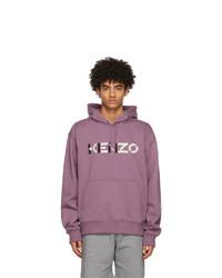 Kenzo Purple Oversized Logo Hoodie