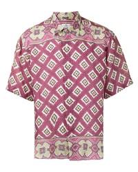 Etro Abstract Print Short Sleeved Shirt