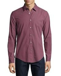 BOSS Fancy Print Sport Shirt Dark Purple