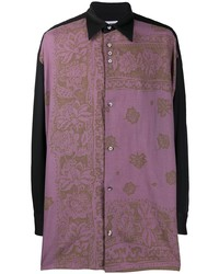 Magliano Loose Fit Floral Print Shirt