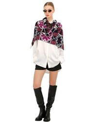 Printed wool stole medium 160823