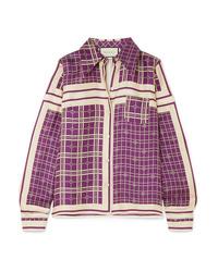 Gucci Printed Silk Satin Twill Shirt