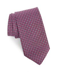 Salvatore Ferragamo Enne Gancini Print Silk Tie
