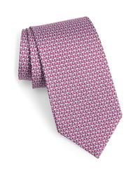 Salvatore Ferragamo Flamingo Print Silk Tie