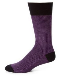 Purple Print Socks