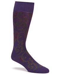 Polo Ralph Lauren Paisley Crew Dress Socks