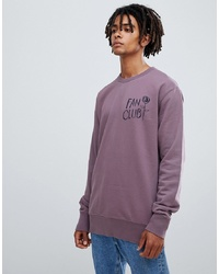 Wood Wood Fan Club Sweatshirt In Purple