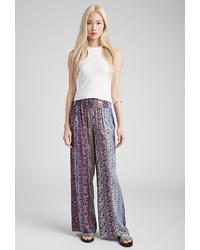 Floral print wide leg pants medium 146089