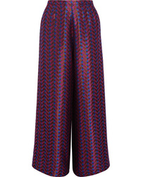Etro Metallic Jacquard Wide Leg Pants
