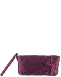Purple Satin Clutch