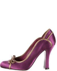 Purple Satin Pumps