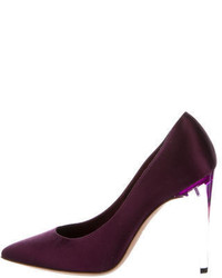 Chanel Satin Pointed Toe Pumps