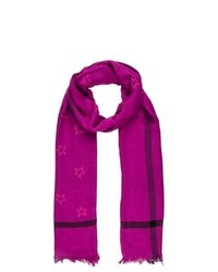 Black Lily Scarf Purple