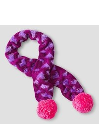 Cat Jack Girls Cold Weather Scarf With Hearts Cat Jack Purple One Size