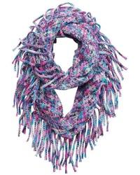 Girls 4 16 Metallic Space Dyed Knit Fringe Infinity Scarf